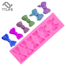 TTLIFE Bow-know Silicone Mold Cake Decorating Tools Fondant Mould 3D Chocolate Gumpaste Molds Kitchen Accessories Candy Molds ttlife 3d easter bunny silicone mold rabbit with carrot cupcake fondant cake decorating diy tool candy chocolate gumpaste mould