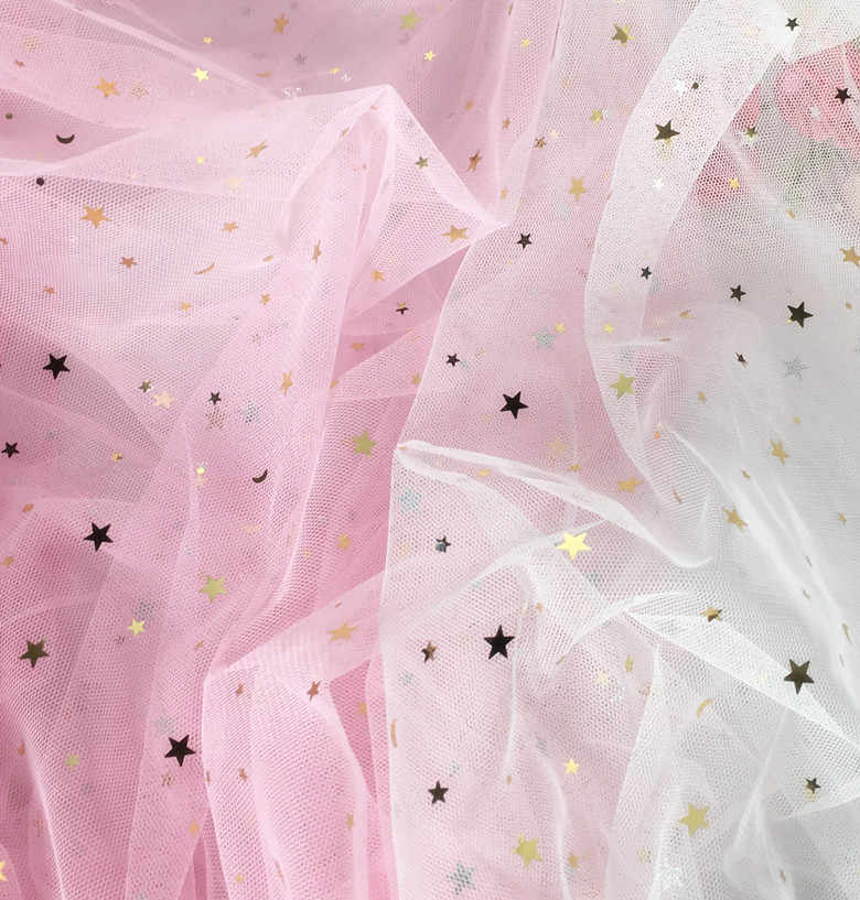 ... Yackalasi 3 Meters lot Soft Mesh Fabrics Gold Glitter Bronzed  Stars moon Floral Tutu Women Dress ... 24edba2c4782