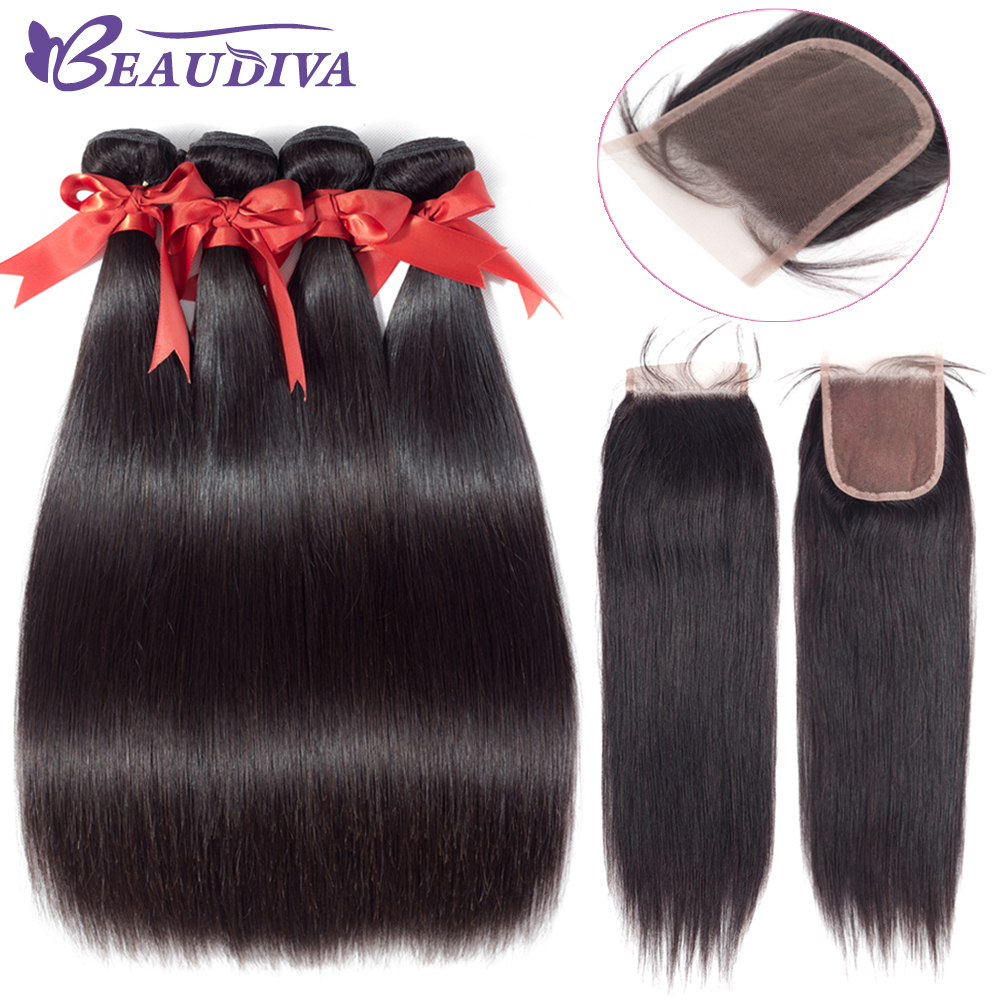 Hot Sale Beaudiva Human Hair Brazilian Straight Bundles Ssd Wd Green 120gb Sata M2 6gb S Brazil With Lace Closure Natural Color 100 4