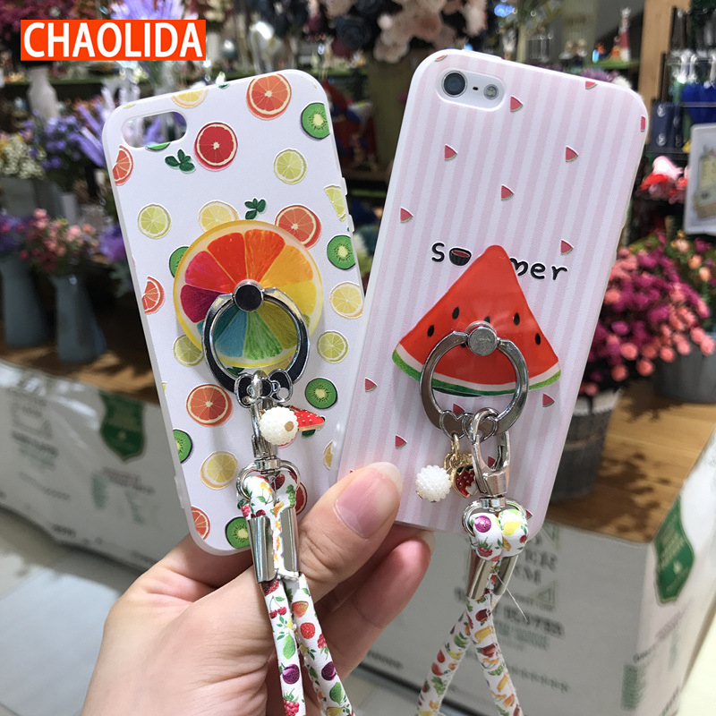 CHAOLIDA Cute Fruit Cell Phone Case Covers for Iphone 6 6s 6Plus 6sPlus 7 7Plus Fancy Wome
