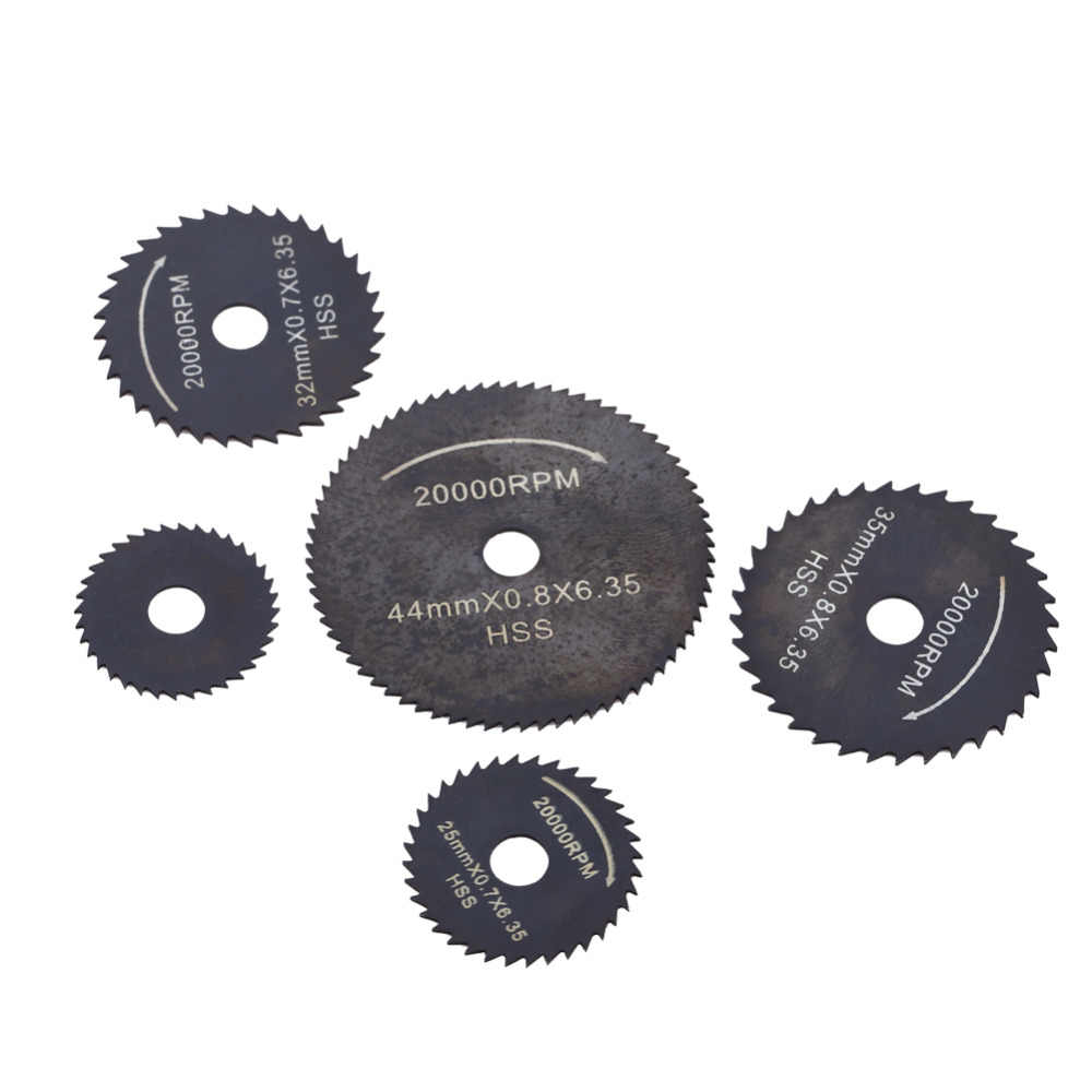 1 Set HSS Circular Saw Blades Cutting Disc Power Tools for Wood Plastic 22-44mm
