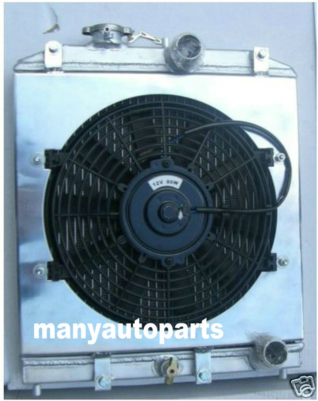 3ROW 52MM Aluminum Radiator 92-00 FOR Honda Civic EK EG D15 D16 B16 B18 + FAN Shroud 93 94 95 96 97 98 99