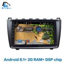 4 г LTE wifi Android 8,1 Автомобильный gps мультимедийный видео радио плеер в тире для Mazda 6 2009-2015 лет Навигация стерео