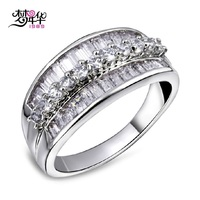 Sweet Look Cubic Zirconia Setting Deluxe Fashion Ring 18K Gold Platinum Plated Environmental Friendly Material Lead