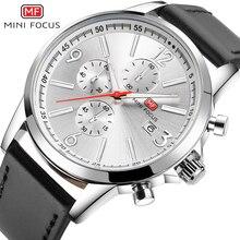 MINIFOCUS Luxury Brand Mens Watches Leather Strap Fashion Watch Men Waterproof Sport Clock Men's Wristwatches Relogio Masculino