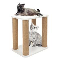 Nordic Style Wood Hemp Rope Cat Tree Wooden Cat Climbing Tree Desk Frame Cats Jumping Toy Pet Supplies
