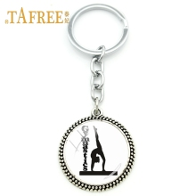 TAFREE Sports Items Gymnastics Competitions Souvenir Keychains for Sports Fans Keyring Pendants Key chain jewelry GY192