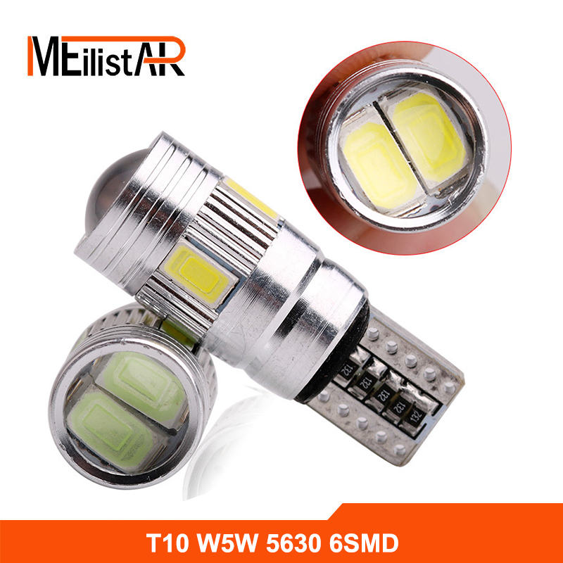 Ultrabright Free Shipping 2pcs/lot T10 High bright with Projector Lens led Car Lights W5W AUTO LIGHT BULBS Clearance Lamp 2 x t10 led w5w canbus car side parking light bulbs with projector lens for mercedes benz c250 c300 e350 e550 ml550 r320 r350