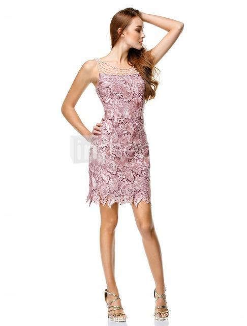 Purple Cocktail Dress 2017 Lace Bedaing Sexy Hollow Back Special Occasion Dresses Mini Homecoming Dress Short Dresses 891357