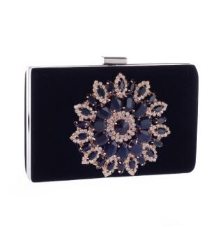 Sera Frizioni Party A black Di Borsa Sacchetto Dinner Nuziale red Dark Frizione Purse Red blue Strass Portafoglio Catena Tracolla Cristallo Donne Sw0Aq