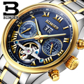 Switzerland BINGER watches men luxury brand Tourbillon sapphire luminous multiple functions Mechanical Wristwatches B8602-7