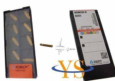 ФОТО 10pcs Korloy MGMN200-M NC3020 Parting off Carbide inserts CNC lathe