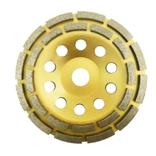 150Mm 7 Inch Diamond 2 Row Segment Grinding Wheel Sanding Disc Sander Grinder Cup Abrasive Tools 22Mm Hole for Concrete Granit 150mm 6 diamond segment grinding wheel abrasive tools sanding disc grinder cup 22mm inner hole for concrete granite masonry