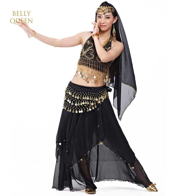 Newest Bollywood Indian Belly Dance Costumes For Women Bellydance Costume Egyptian Belly Dancing Stage Dress 5 PCS/SET