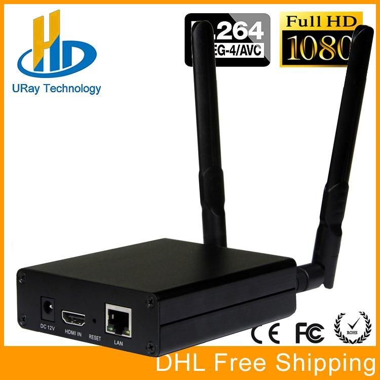 DHL Free Shipping HDMI Video Encoder Streaming Encocder HDMI Transmitter Live Broadcast Encoder H264 Wireless IPTV RTMP Encoder