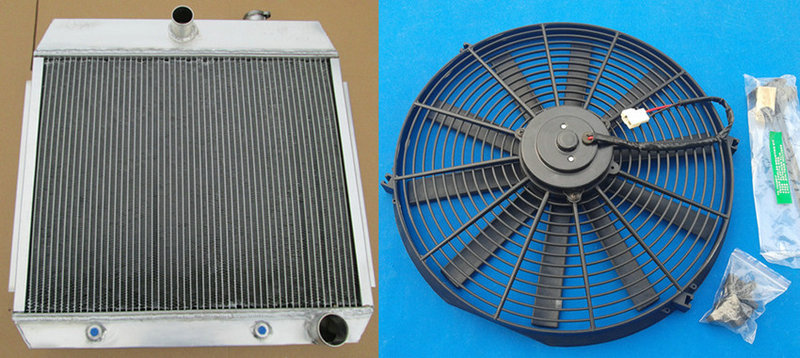 3 rows aluminum radiator for CHEVY BEL AIR V8 W//COOLER 1955 1956 1957
