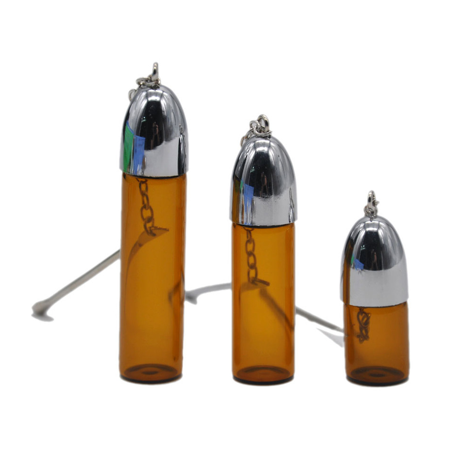 Glass Jar Snuff Bullet Rocket Bottles With Spoon Sniffer container Buy 2 get 3