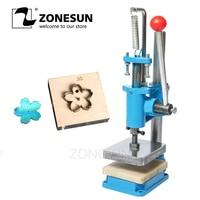 ZONESUN Small Hand Leather Cutting Machine Photo Paper PVC/EVA Sheet Mold Cutter Leather Die cutting Machine Small Die Embosser