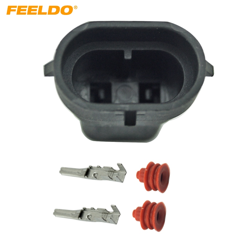 FEELDO 100Pcs Car Male HID Headlight Bulb Socket Connectors for H8 H9 H11 880 881 LED/HID Lights #FD 1866-in Cables, Adapters & Sockets from Automobiles & Motorcycles    1
