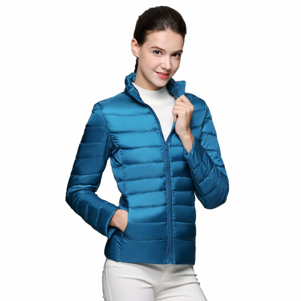 2018 Winter Women Jacket Coat Ultra Light Down 90% White Duck Down Jacket Coats ladies' Warm Down   Parkas   Spring Autumn Outwear