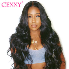 CEXXY 360 Lace Frontal Wig Body Wave Human Hair Wigs Pre Plucked Hairline With Baby Hair Malaysian Lace Wigs For Black Women(China)