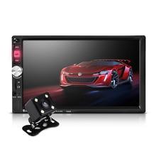 7 Дюймов Сенсорный Экран В Тире 2 Din Автомобильный Радиоприемник Bluetooth USB SD Mp3-плеер Автомобиля MP4 С Камерой Заднего вида Дистанционного Управления 7080B