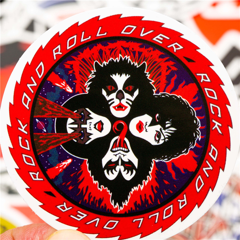 50PCS Pack Rock Stickers Set Heavy Metal Band Stickers For Skateboard and more