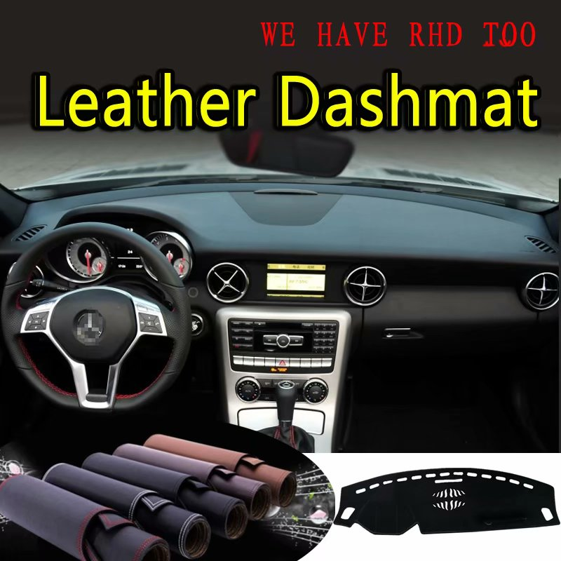 For Mercedes-Benz SLK SLC-Class Slk200 Slk250 Slc300 2011-2018 Leather Dashmat Dashboard Cover Prevent Sunlight Pad Dash Mat