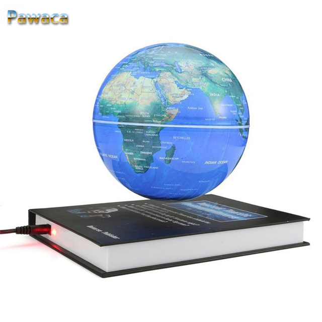 Globe World Map Book Shape Magnetic Levitation Automatic Rotation Floating  Globe Children Gift Home Office Desk