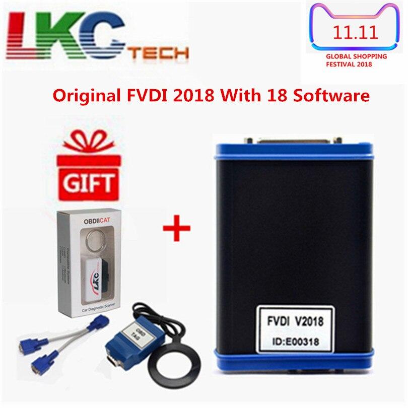 2018 Оригинал FVDI 2018 ABRITES Commander диагностический инструмент полная версия (18 Softwares) без ограничений охватывает FVDI 2014/2015 + подарок