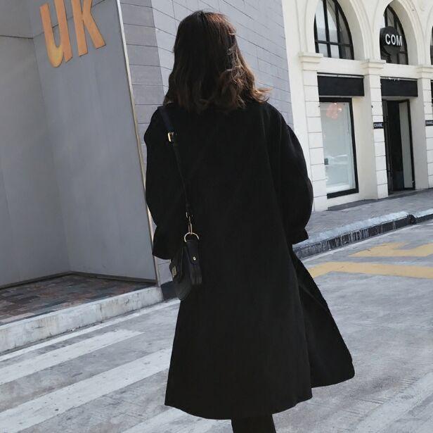 Laine vent S384 Couleur Unie Nouvelle Faux Et Coupe Black Hiver Deux Couture Automne Tricot qPUwRzxZf