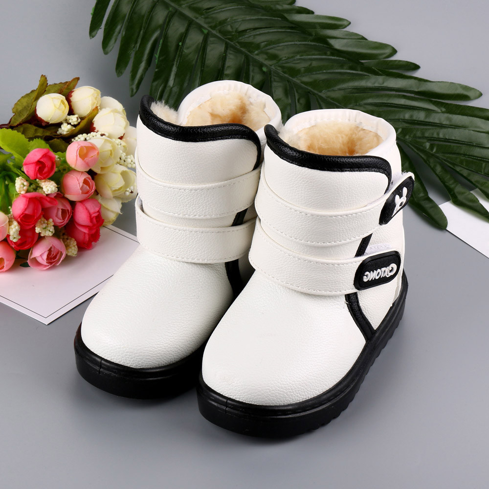 Babys Girls Shoes Leather Martin Sneaker Kids Children Thick Winter Snow Boots Child Boo ...