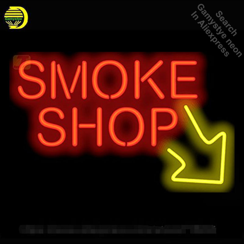 NEON SIGN For Smoke Shop with Right Arrow neon Light Sign Custom Design Restaurant Hotel Neon signs for sale light up signs все цены