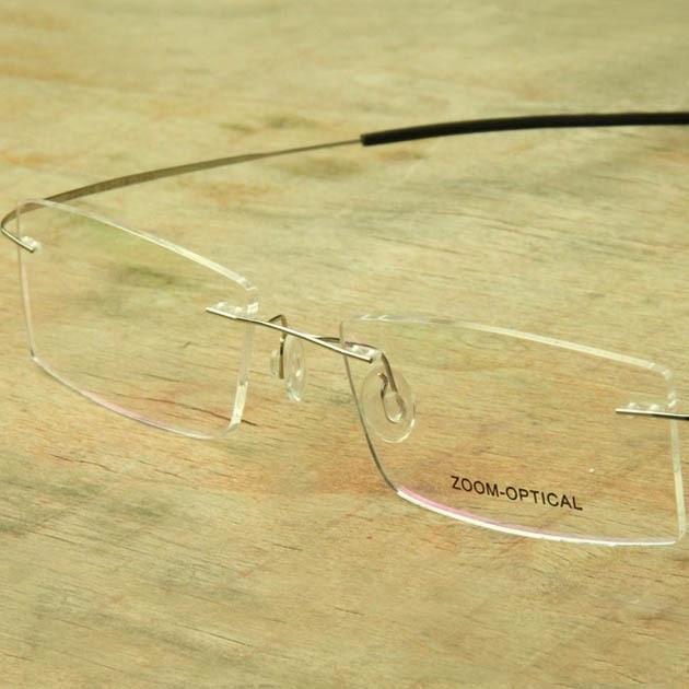 05fc5882e835 Free shipping ultra-light titanium rack rimless eyeglasses man woman  Eyewear frame glasses myopia picture Memory frame unisex