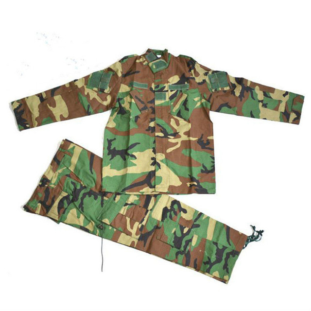 2b1741cc899d5 Kids Outdoor Camping Camouflage Suit Hunting Clothes Outdoor Military  Tactical Special Forces Combat Boy Girl Army Uniforms