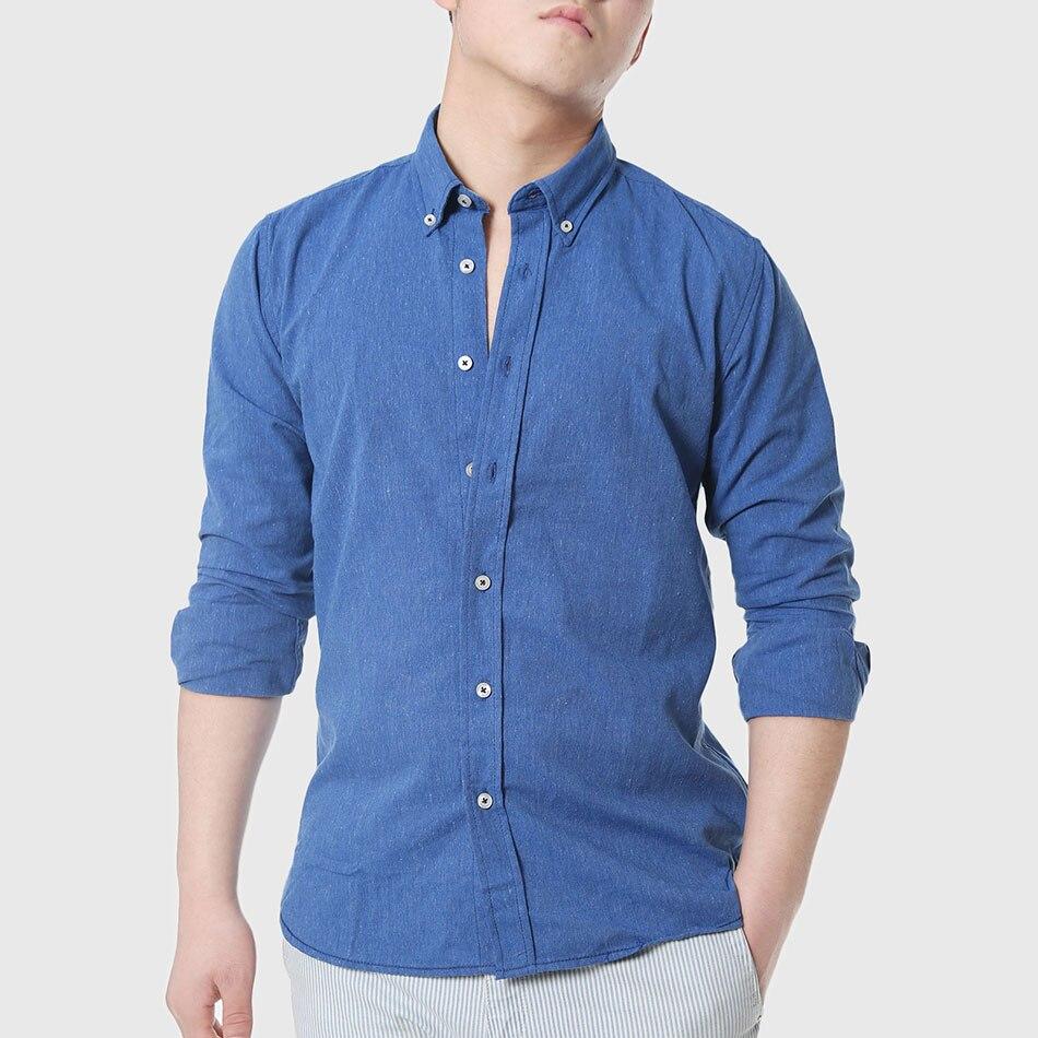 Buy men slim chambray denim shirts cotton for Buy denim shirts online