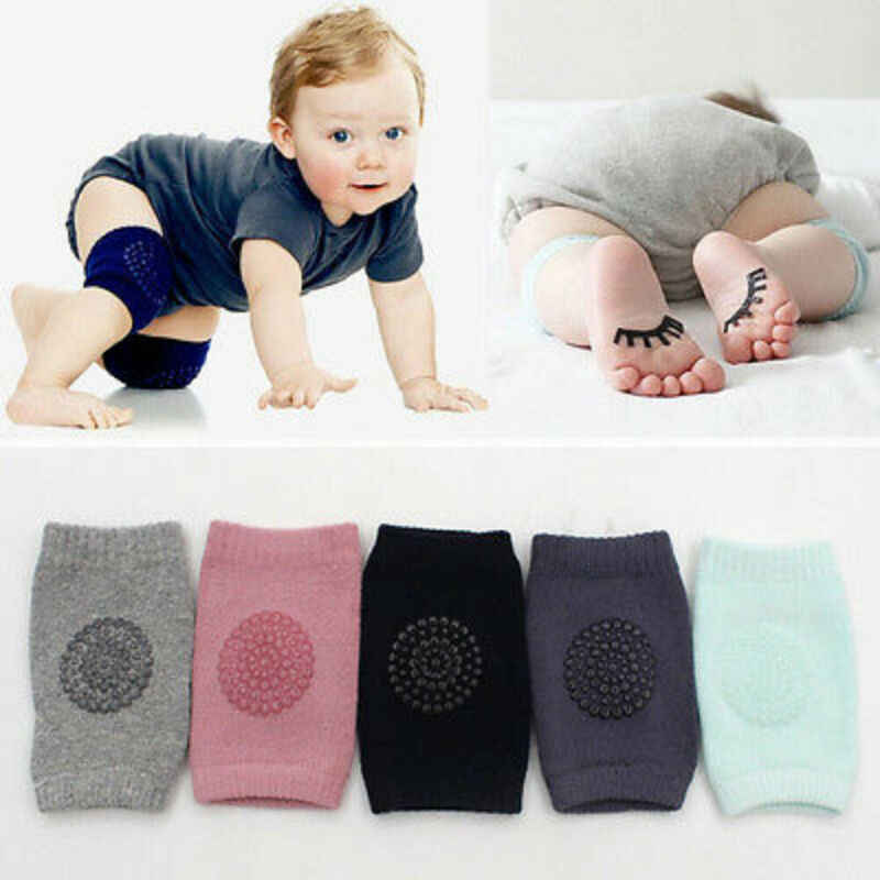 2019 Baby Accessories Baby Infants Safety Elbow Crawling Knee Breathable Warmer Protector Silica Gel Dots Anti-Slip Knee Pads