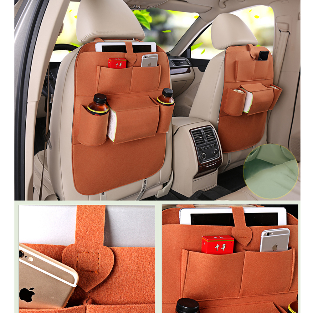 Car seat cover High grade blankets Seat back storage bag car interior accessories Travel Bag Stowing