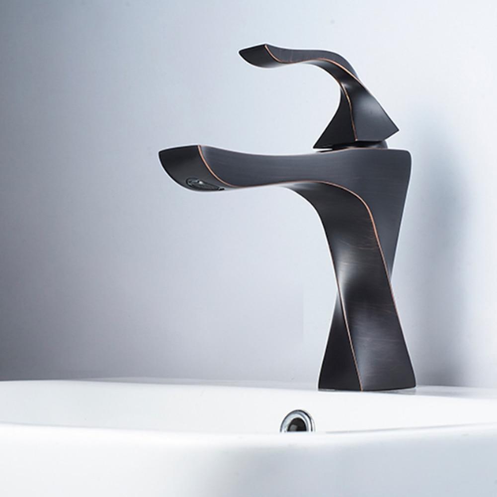 BAOLINLONG News Styling Basin Brass Deck Mount Bathroom Faucets Tap Vanity Vessel Sinks Mixer Faucet