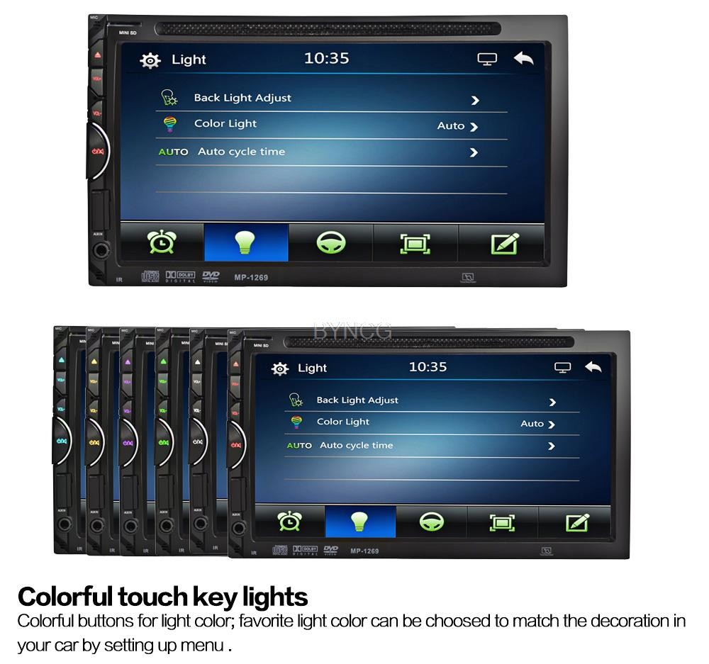 Car Auto Radio DVD Player 7 inch In-dash Stereo Video 2 din DVD/USB/SD/MP4 Player RDS UI Bluetooth FM/AM Radio for Nissan Toyota автомобильный dvd плеер joyous kd 7 800 480 2 din 4 4 gps navi toyota rav4 4 4 dvd dual core rds wifi 3g