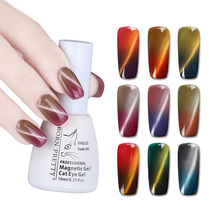 Фотография BORN PRETTY 10ML Thermal Magnetic Cat Eye 3D Chameleon Glitter Gel Polish Temperature Color Changing Soak Off UV Gel Varnish