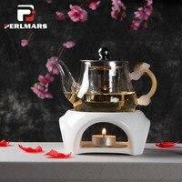 Japanese Style Ceramic Teapot Trivets Alcohol Candle Heating Coffee Milk Warmer Tea Set Pot Holder Base Teaware Tea Makers Stove