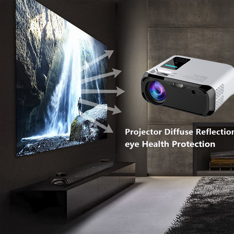 Image 5 - Smartldea 2019 New 720P HD MINI Projector,native 1280*720 3000lumens LED Video Proyector for Home Cinema Portable Beamer HDMI-in LCD Projectors from Consumer Electronics