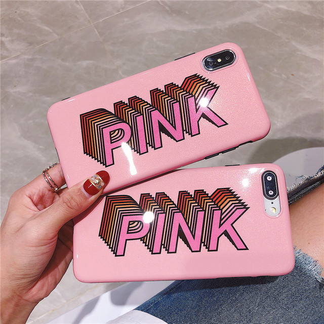 aabf548e948 Luxury Solid Color Cute Pink Girl Silicone Phone Case for Iphone X XS MAX  XR Cases for IPhone 7 6s 6 8 Plus Case Shockproof Capa