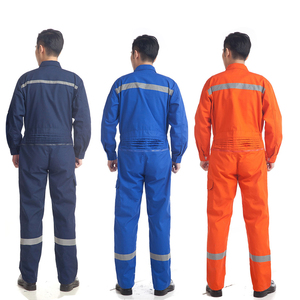 Image 2 - Woman men work overalls working uniforms spring thin section Reflective Coveralls welding car workshop mechanic PlusSize clothes