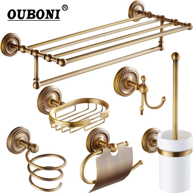 Antique Brass Bathroom Accessories papers