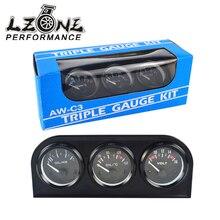 LZONE - 52MM 3 In 1 Volt meter + water temp gauge + Oil Pressure Gauge Kit Volt meter Or Oil Temperature Gauge Triple Mete
