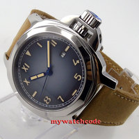 44mm Parnis blue Color Grad dial Miyota Automatic Sapphire glass Mens watch p474