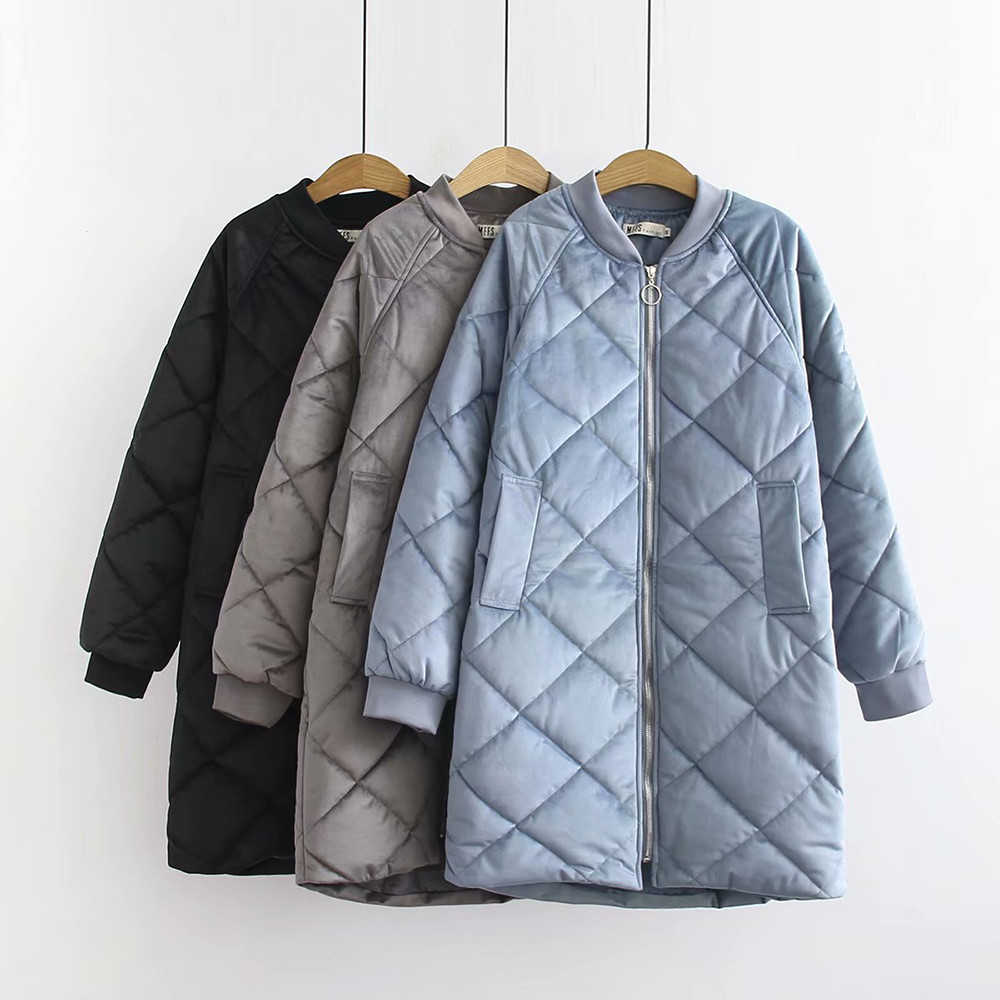 Nero Grandi Spessore Cotone Collare Dimensioni Del Basamento Tasca blue Di grigio Giacca Ricamo Donne Sciolti Il TxqWnO4p1
