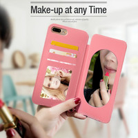 For IPhone XSMAX Case For Iphone 8 plus Makeup Mirror Cases With Strap Shell Covers For IPhone 6 6s 6plus 7 7plus 8 X XS Max XR